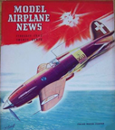 Model Airplane News Cover for February, 1943 by Jo Kotula Macchi C.202 Folgore