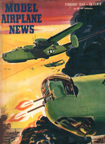 Model Airplane News Cover for February, 1944 by Jo Kotula Consolidated B-24 Liberator