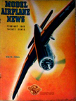 Model Airplane News Cover for February, 1946 by Jo Kotula Ryan FR-1 Fireball