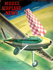 Model Airplane News Cover for February, 1948 by Jo Kotula Art Chester's Sweet Pea Racer