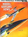 Model Airplane News Cover for February, 1951 by Jo Kotula Lockheed XF-90