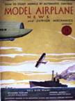 Model Airplane News Cover for January, 1931 Dirigible and parasite fighter
