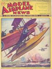 Model Airplane News Cover for January, 1932 by Jo Kotula Fairey F-3 Campania