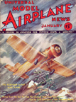 Model Airplane News Cover for January, 1933 by Jo Kotula Northrop Alpha