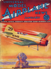 Model Airplane News Cover for January, 1935 by Jo Kotula Bellanca - Fitzmaurice 28-70 Irish Swoop