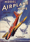 Model Airplane News Cover for January, 1937 by Jo Kotula Curtiss XA-18 Shrike