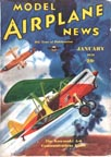 Model Airplane News Cover for January, 1938 by Jo Kotula Kawasaki Ki-10 and KDA-5