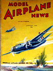 Model Airplane News Cover for January, 1940 by Jo Kotula Douglas D8-7-B3 (A20) Havoc