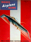 Model Airplane News Cover for January, 1942 by Jo Kotula Northrop N-1 Experimental