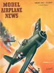 Model Airplane News Cover for January, 1944 by Jo Kotula Grumman Hellcat
