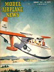 Model Airplane News Cover for January, 1946 by Jo Kotula Republic RC-3 Seabee