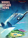 Model Airplane News Cover for January, 1947 by Jo Kotula Vought XF5U Flying Flapjack