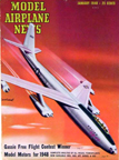 Model Airplane News Cover for January, 1948 by Jo Kotula Boeing B-47 Stratojet