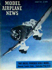 Model Airplane News Cover for Jan, 1949 by Jo Kotula Granville Brothers Gee Bee
