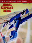 Model Airplane News Cover for January, 1950 by Jo Kotula Albatros D.III