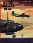 Model Airplane News Cover for January, 1952 by Jo Kotula North American AJ (NA-146) Savage