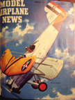 Model Airplane News Cover for January, 1954 by Jo Kotula Curtiss F8C Falcon (Helldiver)