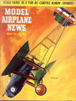 Model Airplane News Cover for January, 1955 by Jo Kotula Vickers FB25-26