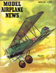 Model Airplane News Cover for January, 1956 by Jo Kotula Pfalz D.X11