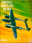Model Airplane News Cover for January, 1958 by Jo Kotula Lockheed P-38 Lightning