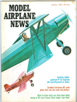 Model Airplane News Cover for January, 1968 by Jo Kotula Frank Smith Miniplane