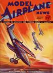 Model Airplane News Cover for July, 1932 by Jo Kotula Hawker Fury