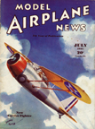 Model Airplane News Cover for July, 1935 by Jo Kotula Curtis XF13C