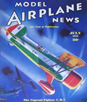 Model Airplane News Cover for July, 1936 by Jo Kotula Caproni CH.1