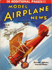 Model Airplane News Cover for July, 1937 by Jo Kotula Polikarpov I-5