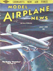 Model Airplane News Cover for July, 1938 by Jo Kotula Boeing Stratoliner