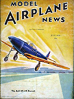 Model Airplane News Cover for July, 1939 by Jo Kotula Bell XP-39 Airacobra