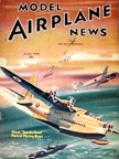 Model Airplane News Cover for July, 1940 by Jo Kotula Short Sunderland Flying Boat