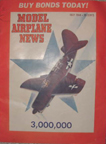 Model Airplane News  Cover for  July 1944 by Jo Kotula   Curtiss SB2C Helldiver Dive Bomber