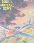 Model Airplane News Cover for  July 1946 by Jo Kotula   North American Navion