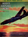 Model Airplane News Cover for July, 1947 by Jo Kotula Martin P4M Mercator