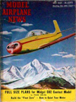 Model Airplane News Cover for July, 1948 by Jo Kotula AFA Streak 225