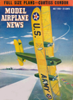 Model Airplane News Cover for July, 1950 by Jo Kotula Curtiss B-2 Condor