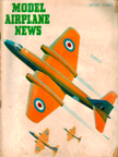 Model Airplane News Cover for July, 1951 by Jo Kotula English Electric Canberra B-57 Bomber