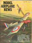 Model Airplane News Cover for July,1965 by Jo Kotula Moraine-Saulnier Type N Bullet