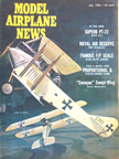 Model Airplane News Cover for July, 1966 by Jo Kotula A.E.G B. I and C. I