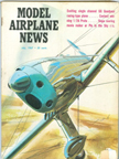 Model Airplane News Cover for July, 1967 by Jo Kotula Ryan STM