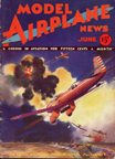 Model Airplane News Cover for June, 1932 by Jo Kotula Curtiss A-8