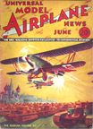 Model Airplane News Cover for June, 1934 by Jo Kotula Polikarpov DI-2