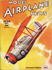 Model Airplane News Cover for June, 1935 by Jo Kotula Grumman FF-1 FiFi