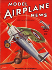 Model Airplane News Cover for June, 1936 by Jo Kotula Dewoitine D.27 (Var D.535)