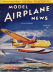 Model Airplane News Cover for June, 1938 by Jo Kotula Hall Aluminum Aircraft Co. XPTBH-2