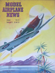 Model Airplane News Cover for June, 1943 by Jo Kotula Supermarine Spitfire