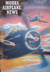 Model Airplane News Cover for June, 1946 by Jo Kotula Grumman F8F Bearcat
