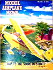 Model Airplane News Cover for June, 1950 by Jo Kotula Piper PA-20 Pacer