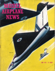 Model Airplane News Cover for June, 1952 by Jo Kotula Gloster Javelin